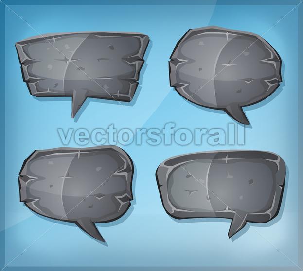 Comic Stone Speech Bubbles - Vectorsforall