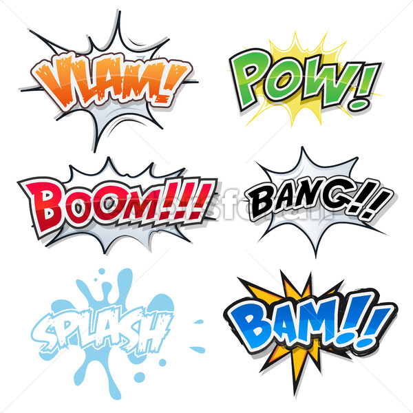 Comic Text, Bomb Explosions And Pop Art Style - Vectorsforall