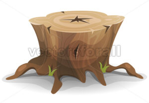 Comic Tree Stump - Vectorsforall