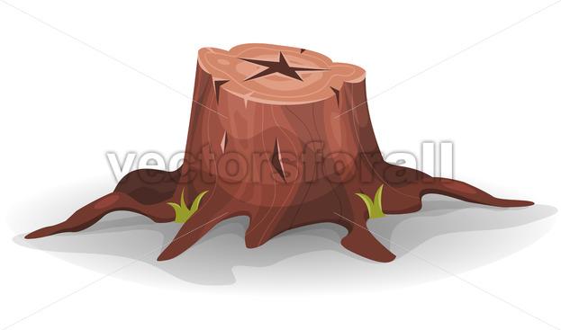 Comic Tree Stump - Vectorsforall