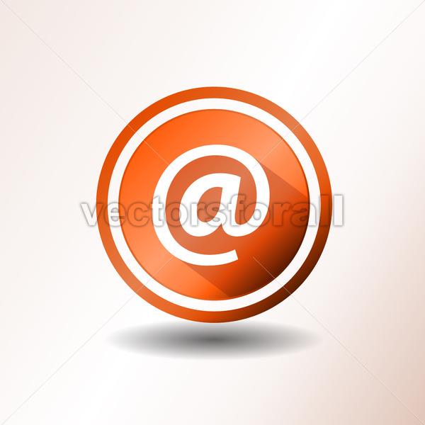Contact Icon In Flat Design - Vectorsforall