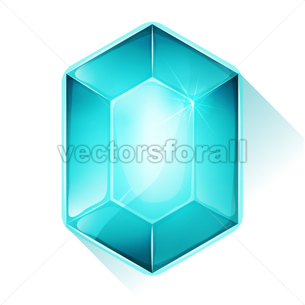 Crystal Gem Icon For Game Ui - Vectorsforall
