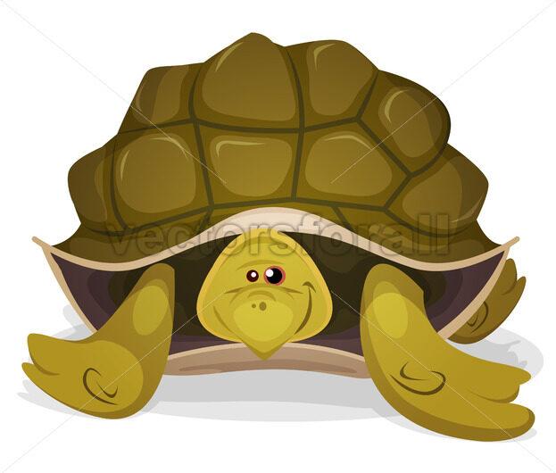 Cute Turtle Character - Vectorsforall