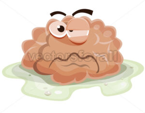 Damaged Brain Character - Vectorsforall