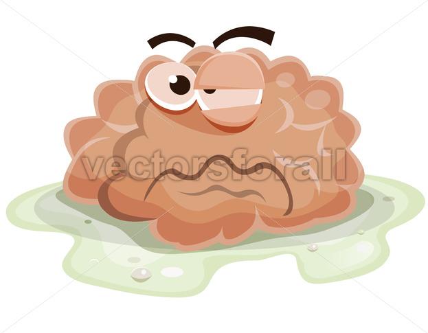 Damaged Brain Character - Vectorsforall