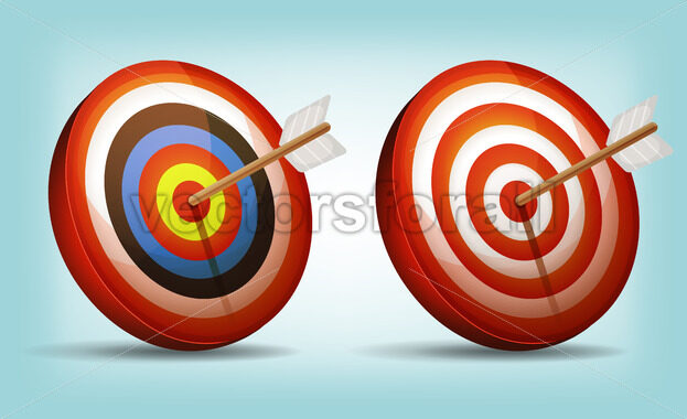 Dart Target With Arrow - Vectorsforall