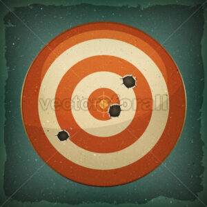Dart Target With Bullets Shot - Vectorsforall