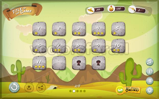 Desert Game User Interface Design For Tablet - Vectorsforall
