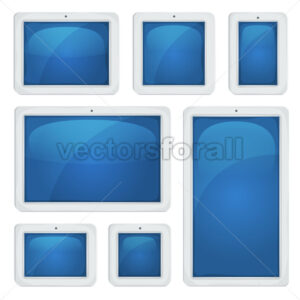 Digital Tablet PC Set - Vectorsforall