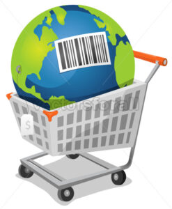 Earth For Sale With Barcode - Vectorsforall