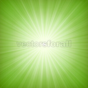 Elegant Green Starburst Background - Vectorsforall