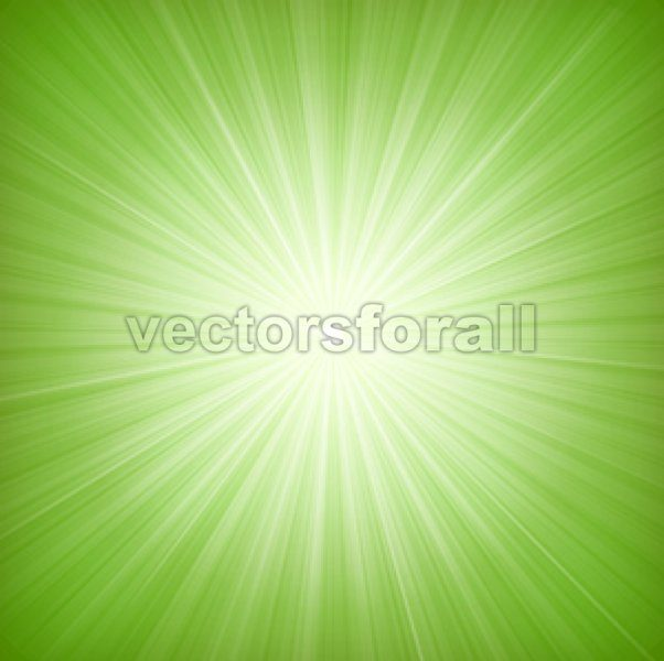 Elegant Green Starburst Background - Vectorsforall