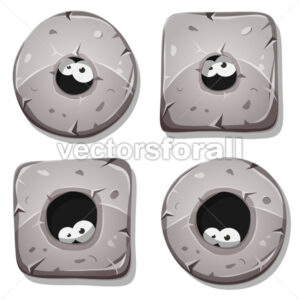Eyes Looking From Stone Holes - Vectorsforall