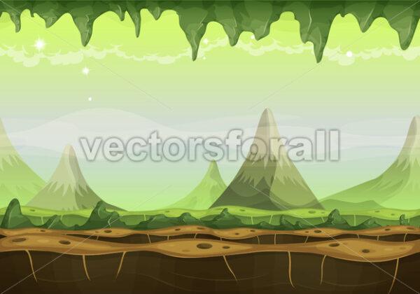 Fantasy Sci-fi Alien Landscape For Game Ui - Vectorsforall