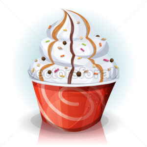 Fast Food Cup Of Ice Cream - Vectorsforall