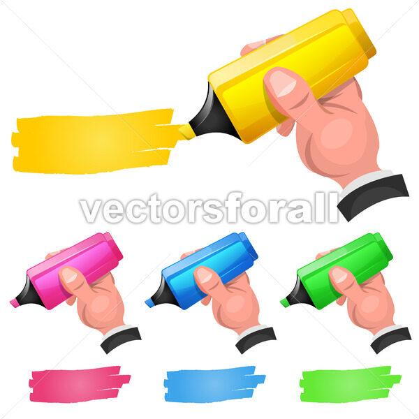 Felt Tip Pen Highlighting Discount Coupon - Vectorsforall