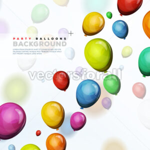 Flying Helium Balloons Background - Vectorsforall