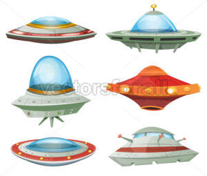 Flying Saucer, Spaceship And UFO Set - Vectorsforall