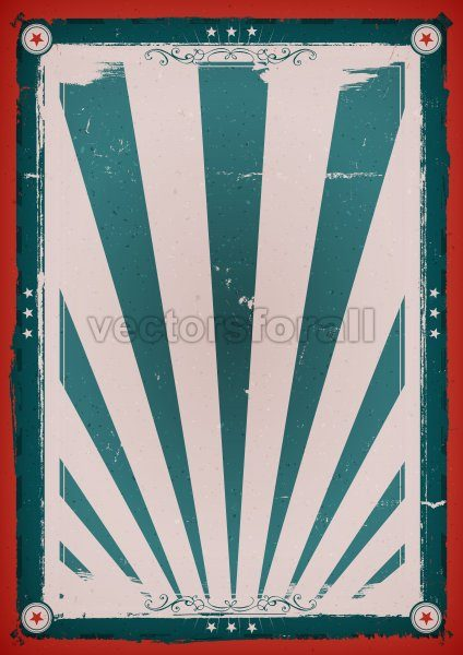 Fourth Of July Vintage Background Poster - Vectorsforall