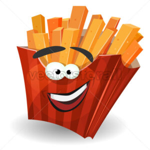French Fries Mascot Character - Vectorsforall