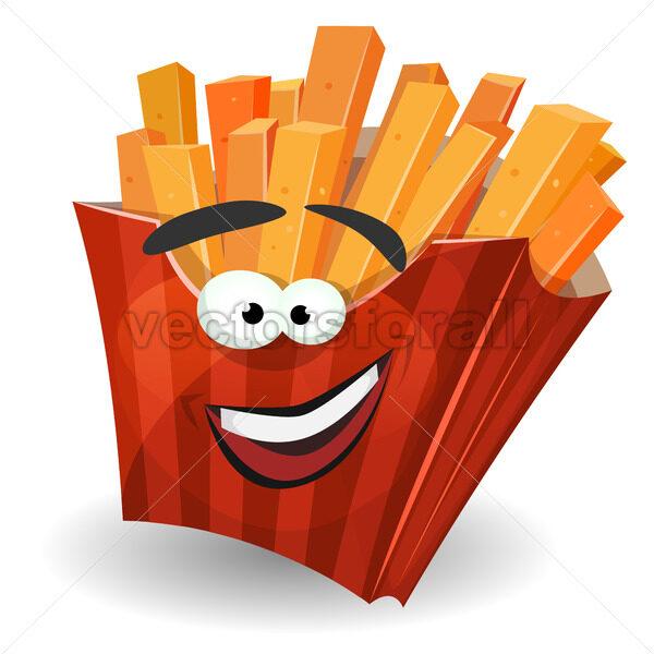 French Fries Mascot Character - Vectorsforall