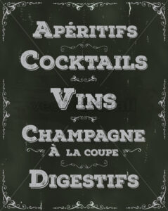 French Restaurant Beverage Background - Vectorsforall