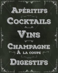 French Restaurant Beverage Background - Vectorsforall