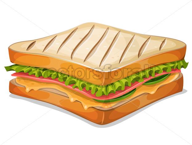 French Sandwich Icon - Vectorsforall