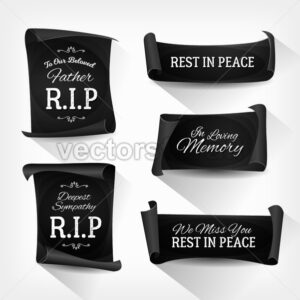 Funeral Rest In Peace Banners - Vectorsforall