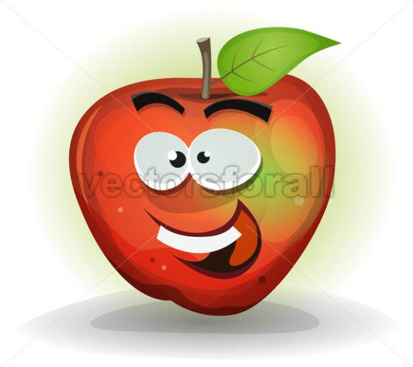 Funny Apple Fruit Character - Vectorsforall