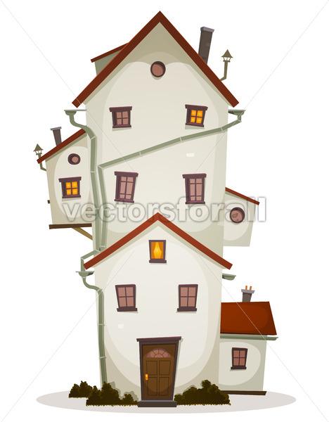 Funny Big House - Vectorsforall