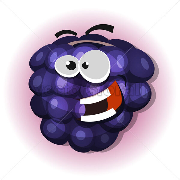 Funny Blackberry Character For Jelly Label - Vectorsforall