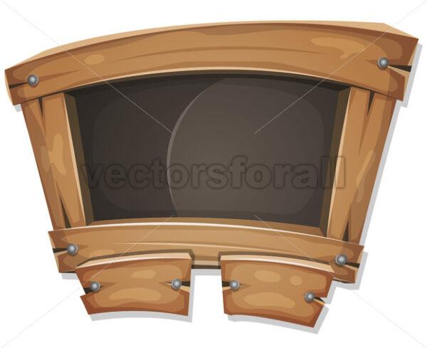 Funny Blackboard Sign For Ui Game - Vectorsforall
