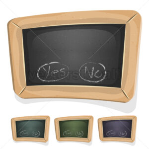 Funny Blackboard Sign For Ui Game - Vectorsforall