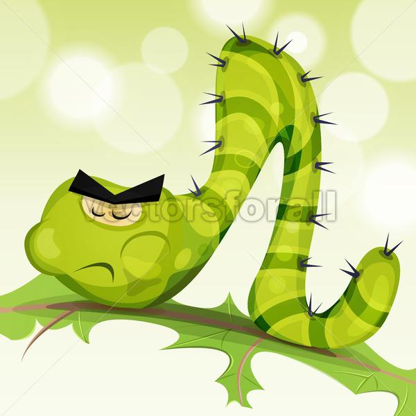 Funny Caterpillar Character - Vectorsforall