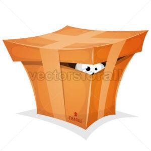 Funny Gift In Cardboard Box - Vectorsforall