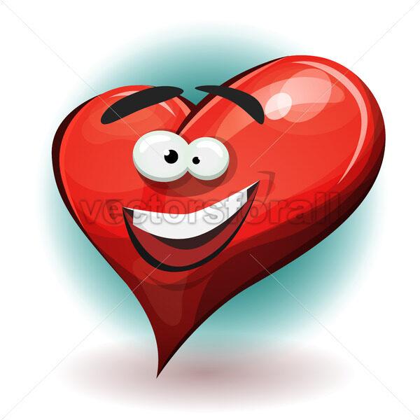 Funny Heart Character - Vectorsforall