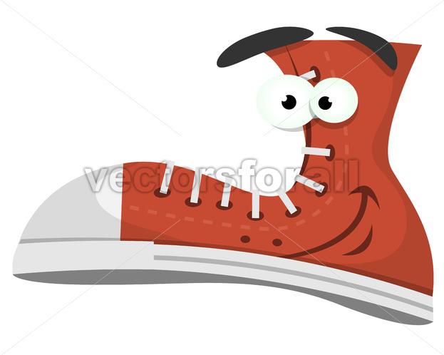 Funny Shoe Character - Vectorsforall
