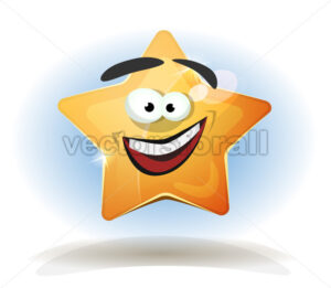 Funny Star Character Icon - Vectorsforall