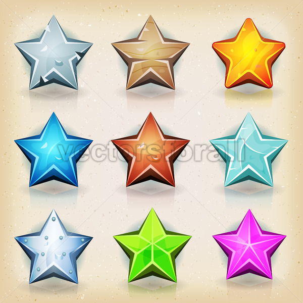 Funny Stars Icons For Game Ui - Vectorsforall