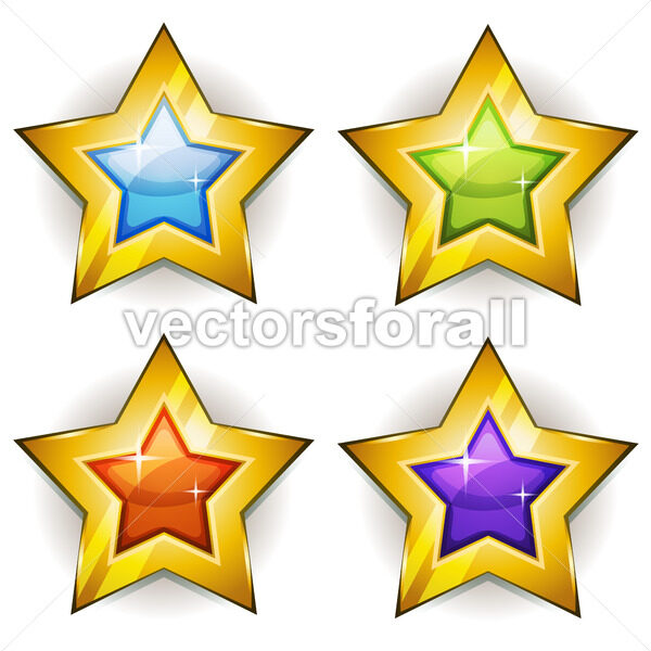 Funny Stars Icons For Ui Game - Vectorsforall
