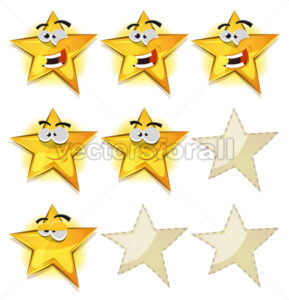 Funny Stars Icons For Ui Game Score - Vectorsforall