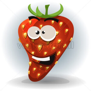 Funny Strawberry Character - Vectorsforall