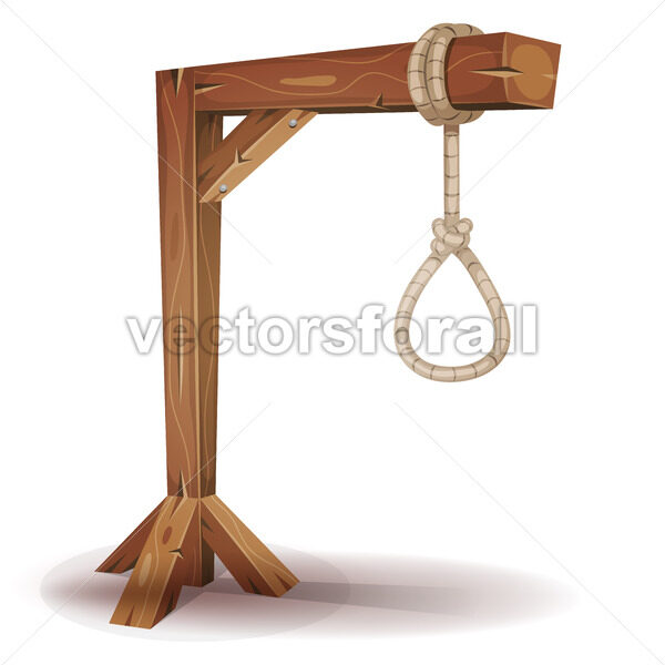 Gallows With Hangman's Rope - Vectorsforall