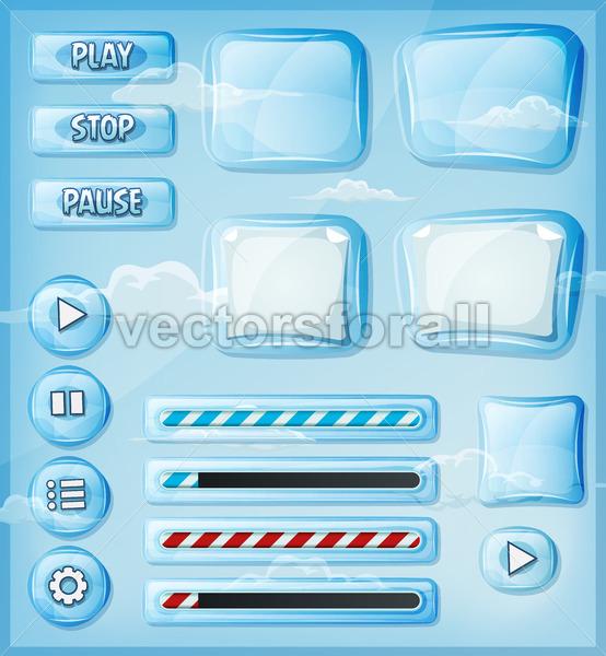 Glass Transparent Icons Set For Ui Game - Vectorsforall