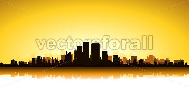 Gold Cityscape - Vectorsforall