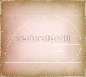 Golden Ratio On Old Vintage Background - Vectorsforall