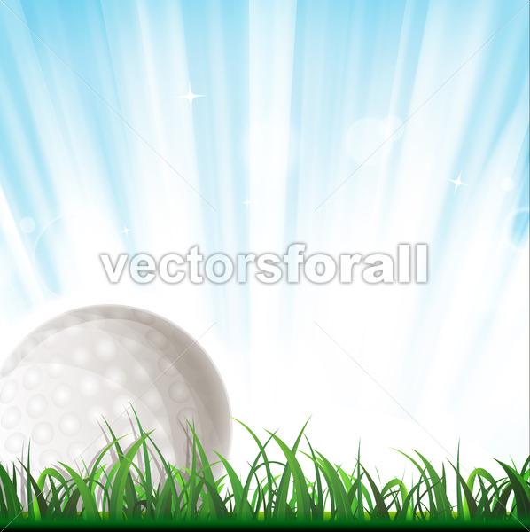 Golf Ball Background - Vectorsforall