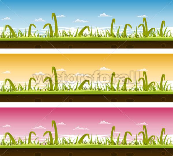 Grass And Lawn Landscape Set - Vectorsforall