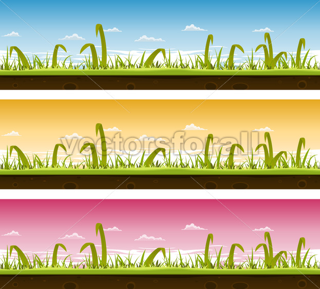 Grass And Lawn Landscape Set - Vectorsforall